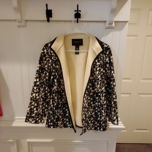Black and Cream Pattern Blazer for Women Size M